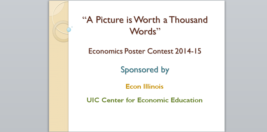Poster Contests | Center for Economic Education | University